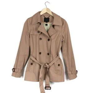 J Crew Collection Double Breast Nude Trench Coat